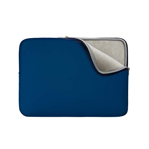 RAINYEAR 14 Inch Laptop Sleeve Protective Case Soft Lining Padded Zipper Cover Carrying Bag Compatible with 14' Notebook Computer Tablet Ultrabook Chromebook(Navy Blue,Upgraded Version)