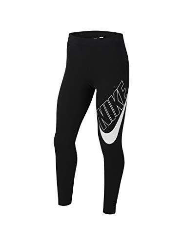 Nike Mädchen Sportswear Favorites Graphic Tights, Black/White, S