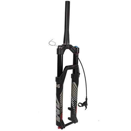 yingweifeng-01 MTB Bicicleta Suspensión Tenedor 26/27.5/29 Pulgada Aire de Aire Ajuste Ajuste Viajes 140mm Thru Mountain Bike Cono Cone Tube Frontal Bifurcación en Bicicleta (Color : 26 Cone Thru)