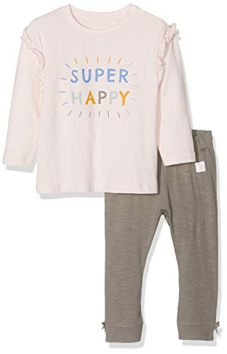 Name It Nbflaine Ls Top Set T-Shirt À Manches Longues, Rose (Barely Pink Barely Pink), 74 Bébé Fille