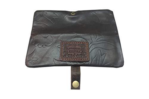 Original Kavatza Mini Joint-Tasche, Tabak-Tasche, Feinschnitt-Beutel, Dreher-Tasche mit Roll-Hilfe/Dreh-Unterlage für große Bättchen | 20 | 160 x 40 | Material: LEDER | Lady | von bong-discount