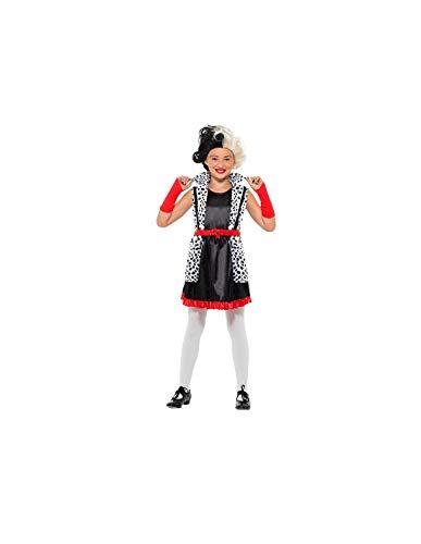 DISBACANAL Disfraz Cruella de Vil para niña - -, 7-9 años