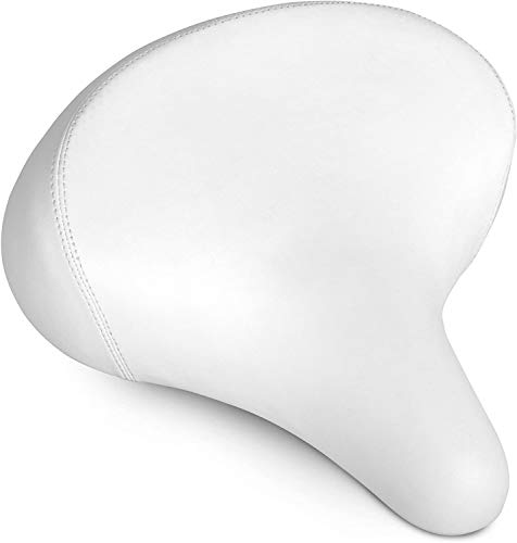 Bikeroo Comfortable Cruiser Bike Seat - Extra Wide Bicycle Saddle with Suspension - Great Replacement Soft Bike Saddle for Women and Men - Stylish Beach Cruiser Bicycle Seat