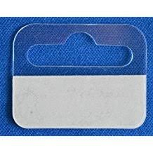 A2B Stationery - Sticky Euro Hook Slot Hang Hanging Retail Tabs 41mm x 32mm with Strong Adhesive (Various Quantities) (1000)