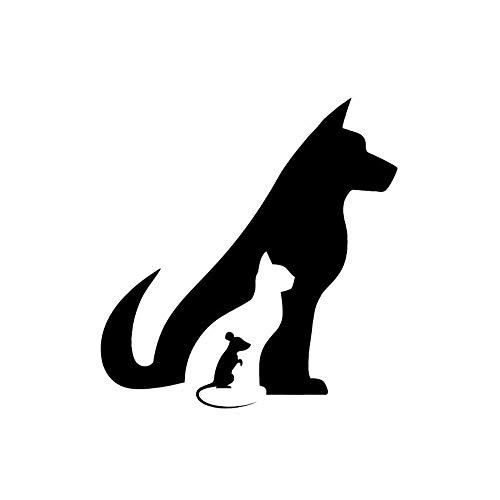 Haustier Hund Katze Maus Tier lustige Toilette Aufkleber Wall Decal Home Decor