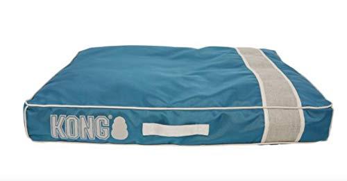 KONG Chew Resistant Heavy Duty Pillow Bed Solid Blue