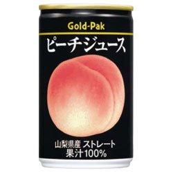ゴールドパック ピーチジュース(ストレート)160g缶×20本入×(2ケース)