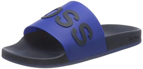 BOSS Bay_Slid_rblg2, Pantolette Hombre, Azul Abierto, 39 EU