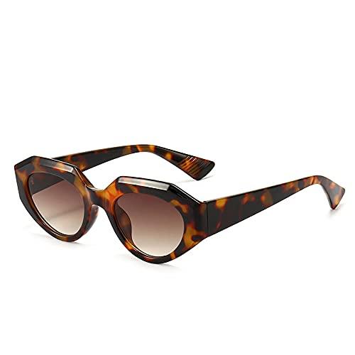 XDOUBAO Gafas de sol Caja pequeña marea gafas de sol hombres y mujeres moda coloreado gafas de sol casual Gafas de personalidad-Color foto_Polvera