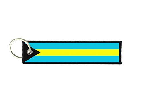 akachafactory Sleutelhanger sleutel ring tags stof motorfietsen auto biker leuke vlag bahamas