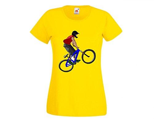 Druckerlebnis24 Camiseta de Ciclismo de Salto Deportivo, Bicicleta, Aventura, Anillos de Spinning,...
