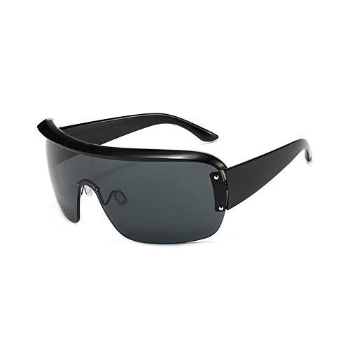 Lanrui Gafas de Sol for Las Mujeres protección UV de Gran tamaño Cuadrados Integrados Gafas de Sol for el Recorrido de conducción de Picnic (Color : B)