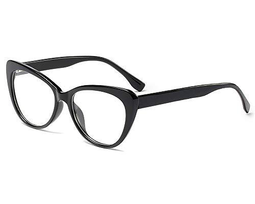 YOFASEN Montura De Gafas Unisex, Gafas Casuales Retro Al Aire Libre, Gafas De Sol Antideslumbrantes,Negro