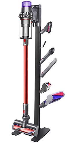XIGOO Storage-Stand-Docking-Station-Holder Compatible with Dyson V15 V11 V10 V8 V7 V6 Cordless Vacuum Cleaners & Accessories, Stable Metal Bracket Organizer Rack, Black