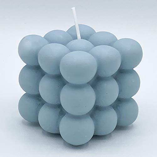 Bubble Candle   Vela sostenible de cera de colza   hecha a mano en Alemania   100% vegana   candlery – La fábrica de velas de Münster (Astral Azul)