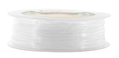 Mandala Crafts Clear Elastic Cord Stretchy Fiber String for Bracelets, Jewelry Making, Beading (0.8mm 100 Meters 328 Feet)
