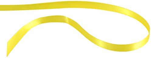 Kel-Toy Inc Kel-Toy Double Face Satin Ribbon, Lemon Yellow