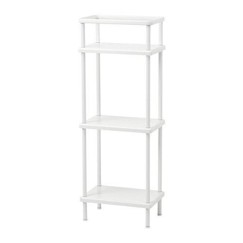 ikeaa Ikea Regal mit Handtuchhalter, weiß 153/4x 105/8x 421/5,1cm