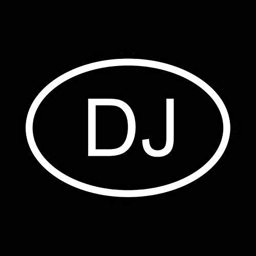 FAFPAY Sticker de Carro 14.1CM * 9.6CM Etiqueta DE Vinilo Pegatina para Coche DJ Djibouti CÓDIGO DE PAÍS Oval Negro Plata C10-01265