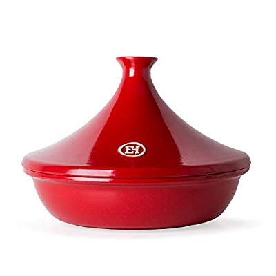 Emile Henry Made In France Flame Tagine, 2.1 quart, Burgundy