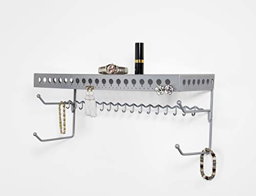 Mango Steam Organizzatore di accessori per gioielli e accessori da parete 45.3 cm (Argento)
