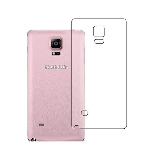 Vaxson 2 Unidades Protector de pantalla Posterior, compatible con Samsung Galaxy Note4 SM-910G Note 4 N910X N910F [No Vidrio Templado] TPU Película Protectora Espalda Skin Cover