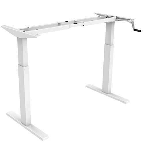 Flexispot H2W Höhenverstellbarer Schreibtisch Kurbelverstellbares Tischgestell, Passt für Alle Gängigen Tischplatte