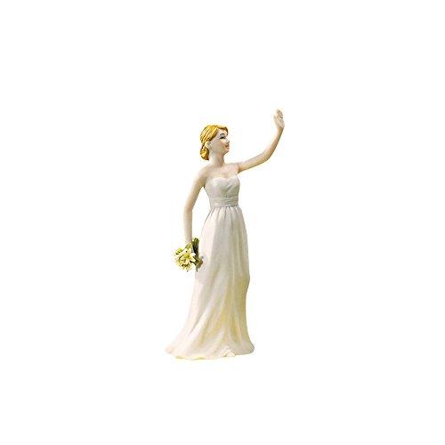 """Tortenfigur """"High Five"""" Braut - witzige Tortenfigur zur Hochzeit, handbemaltes Porzellan"""