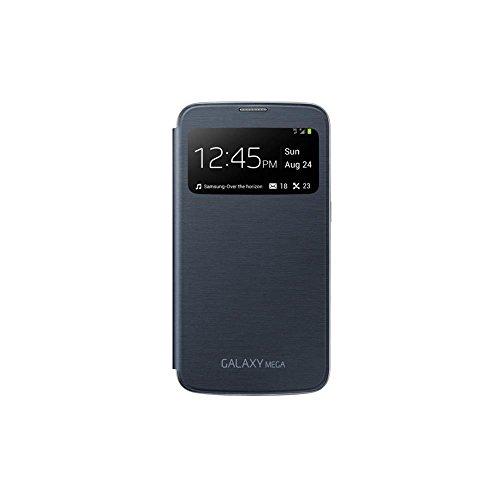 Samsung S-View - Funda para móvil Galaxy Mega 6.3 (pantalla frontal, teclas laterales para activar la pantalla), negro