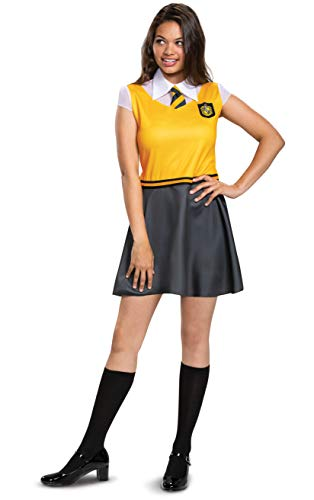 Disguise Harry Potter Dress for Girls, Hufflepuff Costume Dress, Green & Gray, Teen Size Extra Large (14-16)