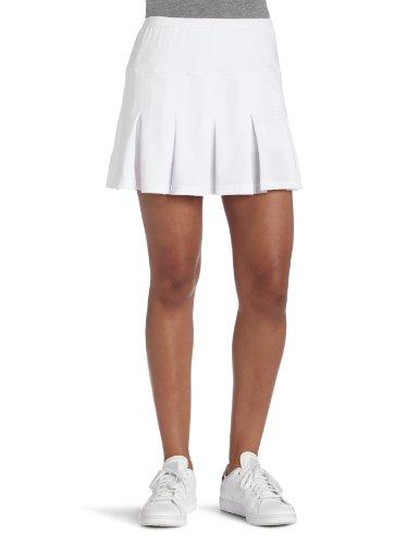bollé - Falda de Tenis con Plisado múltiple para Mujer con pantalón Corto Integrado, Blanco, Large