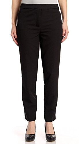 Zac & Rachel Women's Pull On Ankle Pants with Band, Black, 10
