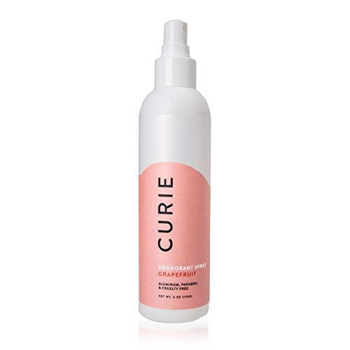 Curie All-Natural Deodorant Spray for Men and Women | Baking Soda-Free | Grapefruit