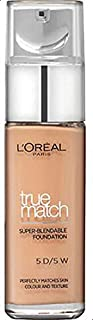 L'Oreal Paris True Match Liquid Face Foundation - 1.01 oz., 5D5W Golden Sand