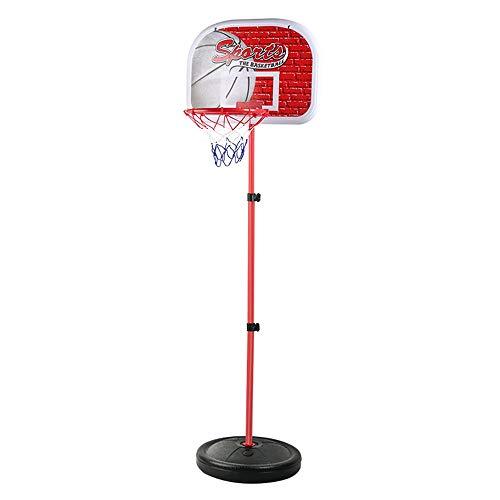 XINGLIAN Jugendliche Draussen Basketballkorb Höhenverstellbar Basketball-Ständer Tragbar Basketball Bordnetz System Mit Kugel Eisenmaterial 4 Größen (Size : 120CM)