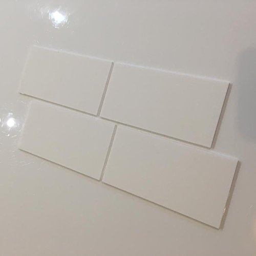 Rectangular niño seguro resistente azulejos de pared – color blanco, Pack of Ten - 20 x 10 cm
