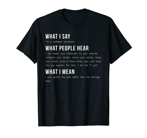 I 'm a Software Entwickler Funny Programmierung T Shirt