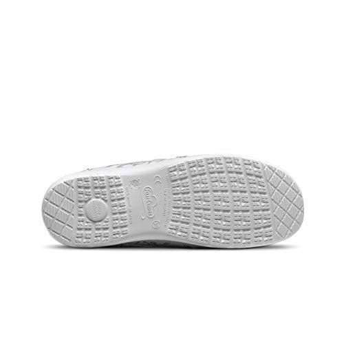 FELIZ CAMINAR - Zapatos Estampados Sanitarios Atom Sanitario/Antideslizantes y Cómodos para Mujer/Clínicas, Veterinarios, Hospital, Geriátricos (38)