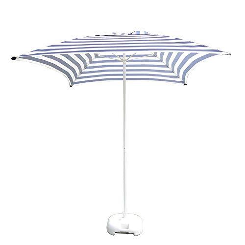Sombrillas Sombrilla cuadrada para patio, sombrilla de mesa de jardín para patio al aire libre, mercado de eventos comerciales en la playa, piscina, rayas blancas y negras, sombrilla al aire libre de