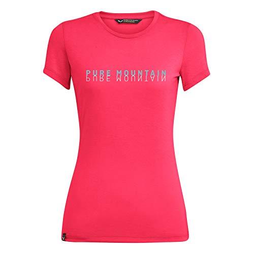 Salewa Damen Pure mit Dri-Rel W S/S Tee Blusen & T-Shirts, Rouge Red Melange, 40/34