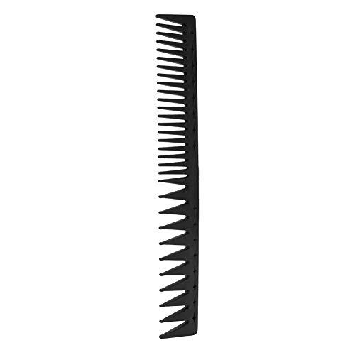 Peigne de coiffage antistatique pour tous les types de cheveux, peigne de coupe de cheveux résistant à la chaleur, peigne de coiffure double face avec dents fines et larges(peigne)