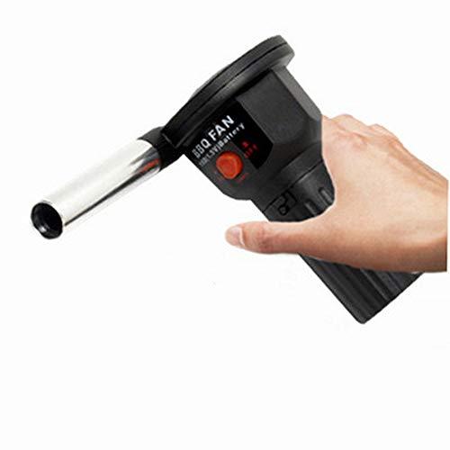 FJSC Ventilador Portátil para Barbacoa con Pilas, Ventilador Mighty Mini Ventilador para Barbacoa con Poco Ruido, Ventilador De Aire