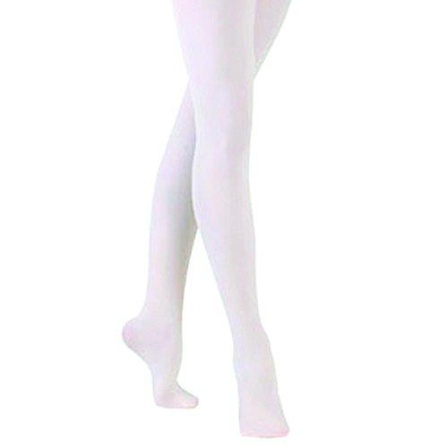 sock snob - Damen Erwachsen Kinder Mädchen Rosa & Weiß Strumpfhosen Strümpfe Ballettstrumpfhose für Ballett (11-14 Years - 152 cm, White)