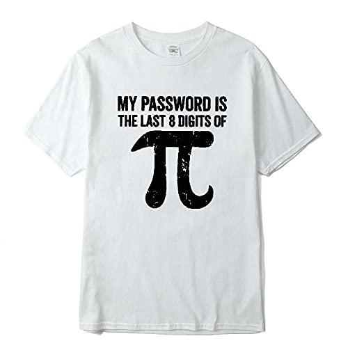 CHWEI Knitted Hat Camisetas para Hombre Camiseta para Hombre De Algodón con Ecuaciones Matemáticas Divertida Camiseta para Hombre Camiseta Informal De Manga Corta A La Moda para E M