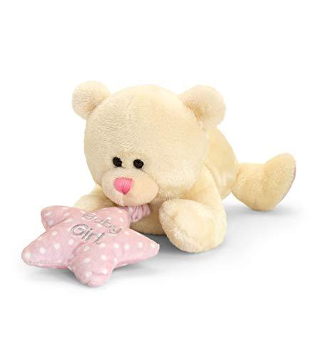 Lashuma Original Keel Baby Soft Toy con caja de música en rosa o azul peluche tumbado 30 cm