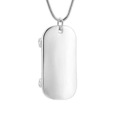 QJZM Memal jewelry- Collar con colgante de urna conmemorativa para cenizas doradas, diseño de scooter de acero inoxidable