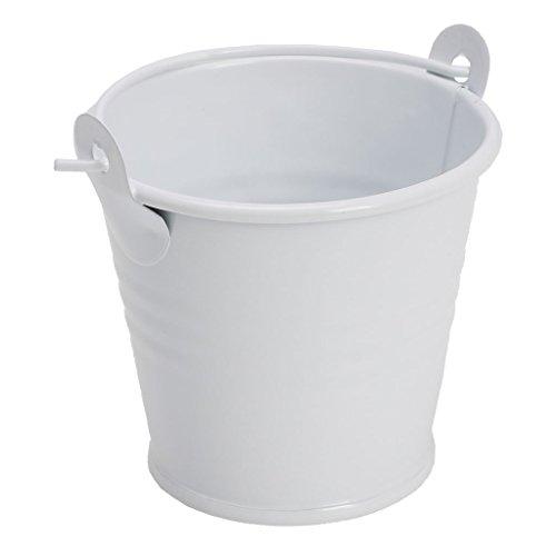 Junlinto Mini Pot de Fleurs en métal Corps Plante Plante Pot de Fleurs Home Office Decor, Fer-Blanc, Blanc, 5.6 * 4 * 5.1cm