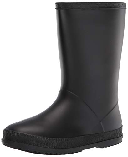 Western Chief Kids Waterproof PVC Rain Boot with Comfort Insole, 2 US Unisex Little Black
