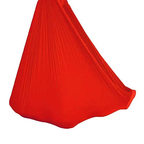 TANGIST Hamaca Columpio Infantil Columpio Interior Elástico Abrazar Hamaca Swing Sensorial para TDAH Aspergers e Integración Sensorial y Terapia de Autismo (Color : Red, Size : 100x280cm/39x110in)