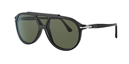 Persol PO3217S - 95/31 Sunglasses Black w/ Green Lens 59mm